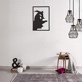 Decorazione Da Parete Super Eroe 1 Color Nero in Acciaio 35x0,15x50 cm