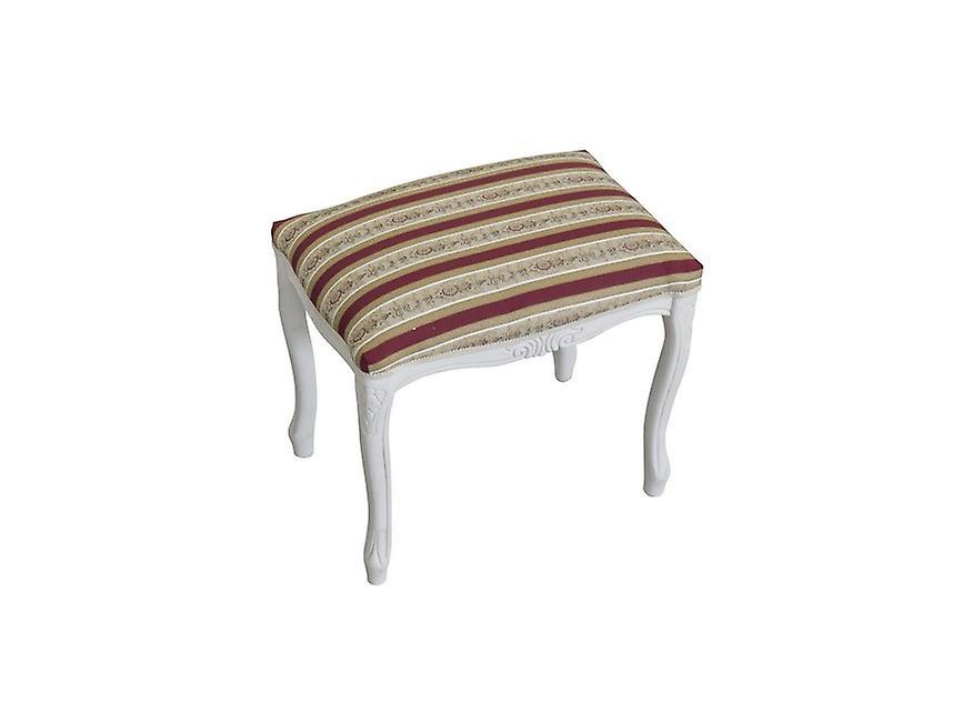 Pouf Grace Colore Bianco, Multicolore in Legno Di Faggio, L40xP30xA40 cm