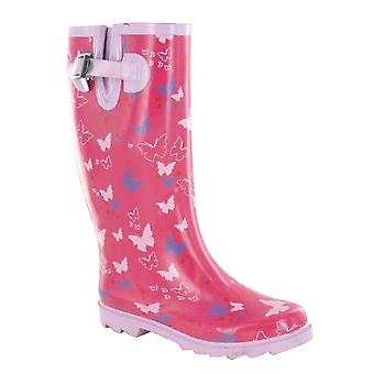 Spot On Womens/Ladies Butterfly Print Wellies