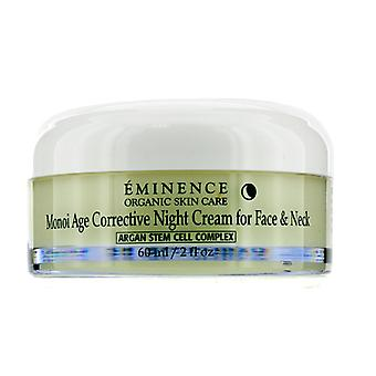 Eminence Monoi Age Corrective Night Cream for Face & Neck - For Normal to Dry Skin, especially Mature 60ml/2oz