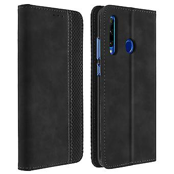 Protective Cover Honor 20 Lite / 20e Card Holder Leather Vintage Effect Black