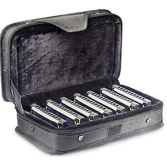 Stagg-BJH-B20 Blues Harmonica 7 pces et cas