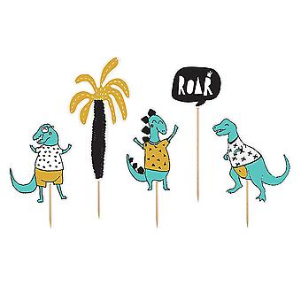 Dinosaur themed Cake Toppers Dinosaur party Set of 5 15.5-20cm