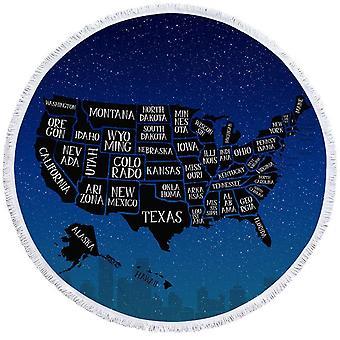 Nacht USA Karte Strand Handtuch