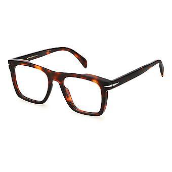 David Beckham DB7020 0UC Röda Havanna Glasögon
