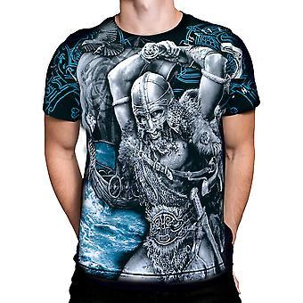 Aquila - viking attack - mens t-shirt