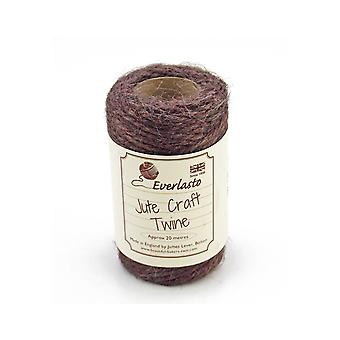 20m Chocolate Jute String for Crafts | Twine Cord & Elastic for Crafts