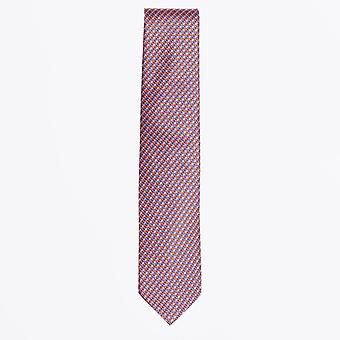 Eton  - Overlay Weave Tie - Orange