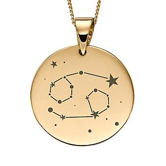 Joshua James Precious 9ct Gult Guld Cancer Zodiac Hänge