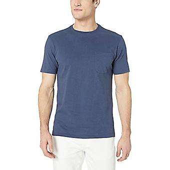 Goodthreads Men's Short-Sleeve Ed Ed Jersey Crewneck Pocket T-Shirt, Marina, L...