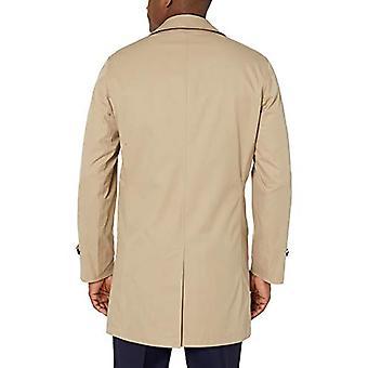 BUTTONED DOWN Men's Water-Repellant Cotton-Blend Car Coat, British Khaki, 42 ...