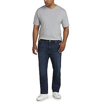 Essentials Men's Big & Tall Straight-fit Stretch Jean fit by DXL, Dark...