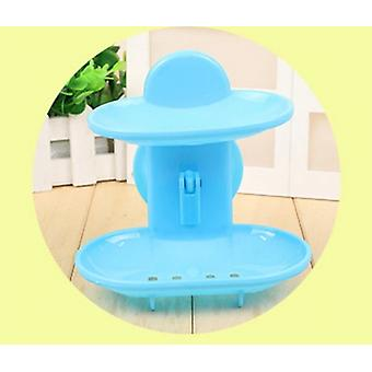 Double Layered Soap Accessories Box for Kitchen and Bathroom with Suction Holder Stand