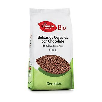 Organic Chocolate Cereal Balls 400 g (Chocolate)