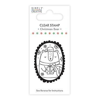 Helt enkelt Creative Christmas Bear Clear Stamp