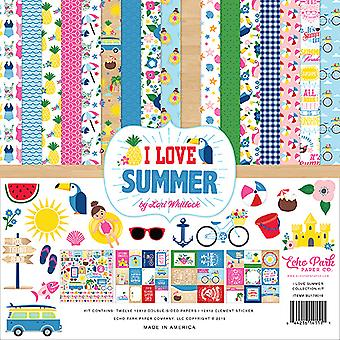 Echo Park I Love Summer 12x12 Inch Collection Kit