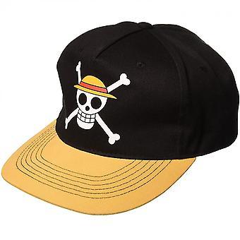 ワンピースルフィ麦わら帽子シンボル調節可能なスナップバックハット