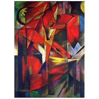 Print on canvas - The Fox - Franz Marc - Painting on Canvas, Wall Decoration