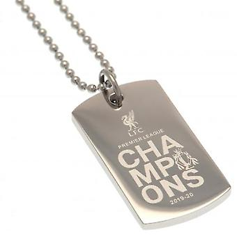 Liverpool Premier League Champions Engraved Dog Tag