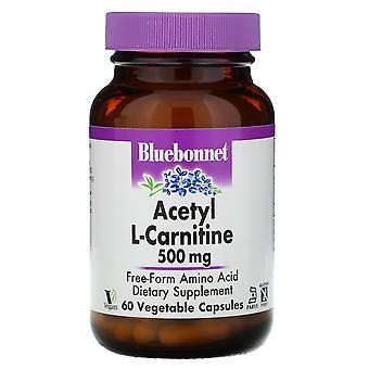 Bluebonnet Nutrition, Acetyl L-Carnitine, 500 mg, 60 Vegetable Capsules