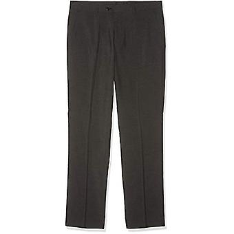FIND Men's Regular Fit Muodollinen housu, Harmaa (Hiili) W30/L31