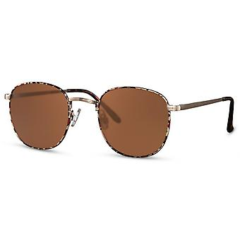 Sunglasses unisex panto kat. 3 gold/brown
