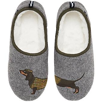 Joules Womens Slippet Faux Fur Lined Mule Slippers