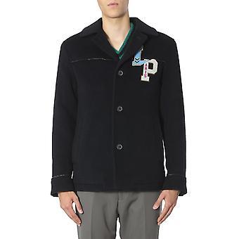 Lanvin Rmou0020a1929 Men's Blue Wool Coat