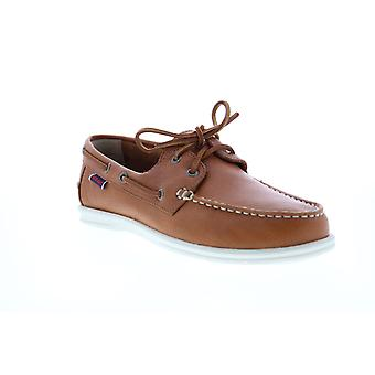 Sebago Naples  Womens Brown Leather Loafers & Slip Ons Boat Shoes