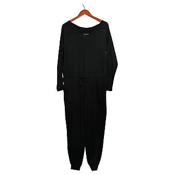 Anybody Jumpsuits Regular Cozy Knit Long Sleeve Black A372099