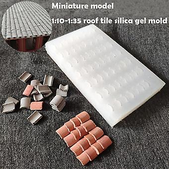 Miniature  Silica Gel Mould For Roof Tile Turning Mould  Scenario Sand Table Diy Material - House Roof Mold Building Scene Model
