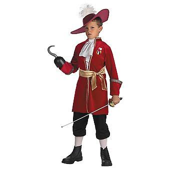 Kapitein haak kwaad piraat Peter Pan nooit Land Disney peuter jongens kostuum 3T-4T