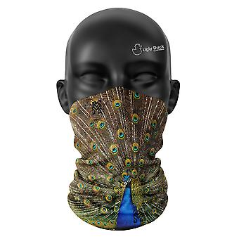 Pfau Farben Snood Gesicht Maske Schal Unisex Hals Gaiter Kopfbedeckungen Wrap Buff Tube