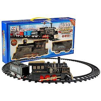 Treinset met Klassieke Locomotief - handbediend -