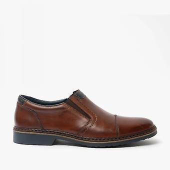 ريكر 16559-25 رجال جلد اضافية واسعة زلة على الأحذية براون