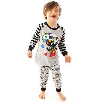 Bing Bunny Piżamy It&Apos;s A Bing Thing Cbeebies Character Boy's Long Sleeve PJs