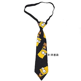 Cartoon Baby Tie School Boys Girls Kids Children Wedding Party Print Colour Cravate Bebe Necktie