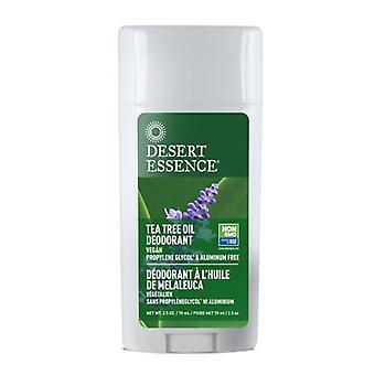 Desert Essence Tea Tree Oil Stick Deodorant with Lavender, 2.5 Oz