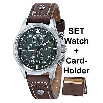 Mens ρολόγια Avi-8 AV-4013-SETA-01, Χαλαζία, 45 χιλιοστά, 5ATM