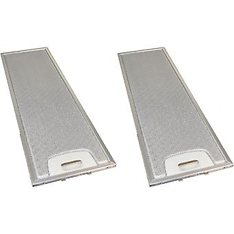 2 x Universal Cooker Hood Metal Grease Filter 170mm x 552mm