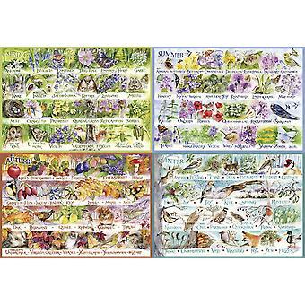 Gibsons Woodland Seasons 2000 Piece JIgsaw Puzzle