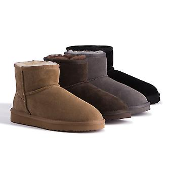 Aus Wooli Australia Water-Resistant Unisex Genuine Au Sheepskin Short Ankle Boots