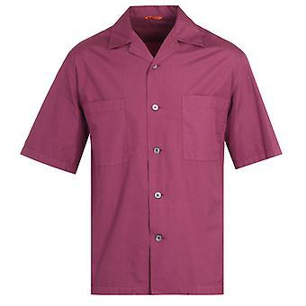 Barena Solona Cuban Collar Burgundy Shirt