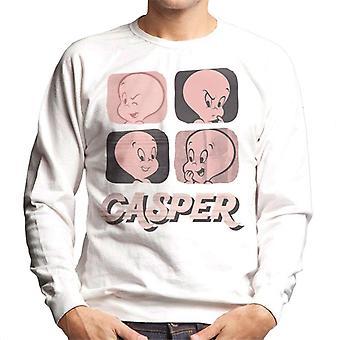 Casper The Friendly Ghost Facial Expressions Men's Sweatshirt
