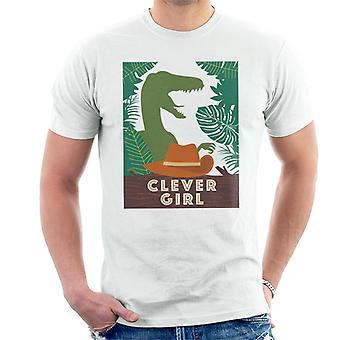 Jurassic Park Velociraptor Silhouette Clever Girl Men's t-paita