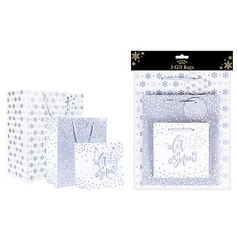RSW International Gift Bags Silver x 3 XM4917
