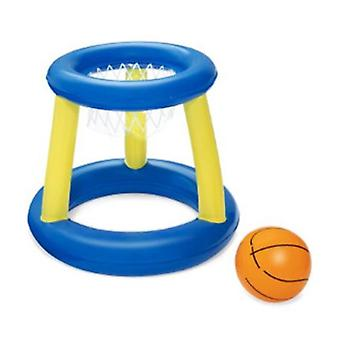 Water Basketballs- Inflatable Floating Basketball Hoop Ring Toss Game, Swimming