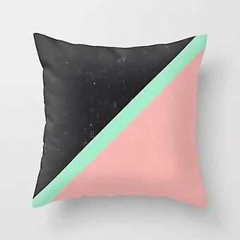 Modern Color Block Black - Pillow Cover