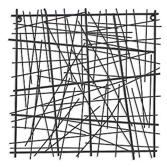 Black Metal Abstract Linear Array hanging Wall Art Decor