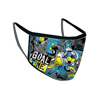Mc Keever Goal Time Youth Kids Face Mask Cover Protection Blue
